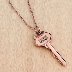 Coppertone 'Mom' Key Pendant Necklace